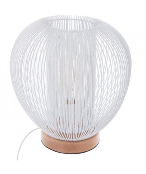 Lampe filaire en métal - E27 - 40 W - H. 27.5 cm - Blanc