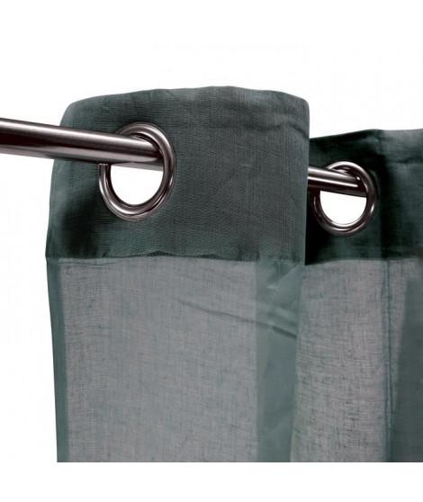 Voilage 100% coton - Gris carbone - 105x250 cm