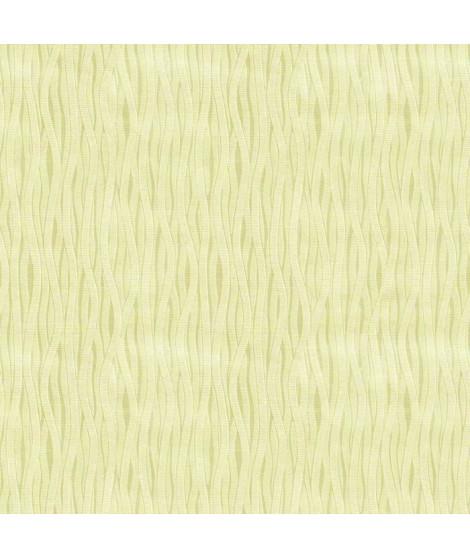 Papier peint double largeur Vagues vert 104 cm x 10m vinyle texturé intissé vert