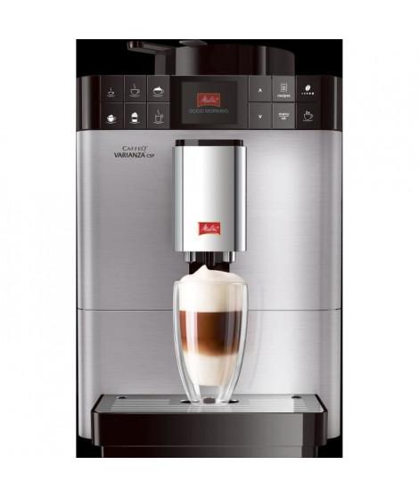 ABSAAR  F58/0-100 - Machine a café automatique avec buse vapeur capuccino-15 bar-10 boissons différentes-Ecran HD-Acier inoxy…