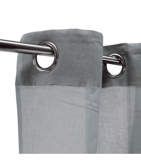Voilage 100% coton - Gris clair - 105x250 cm