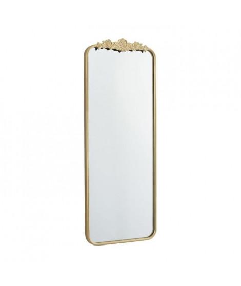 Miroir rectangulaire - 48 x 5 x 124 cm - Jaune doré