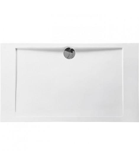 ALLIBERT Receveur de douche Slim rectangle bonde centrée - 80 x 140 cm - Blanc