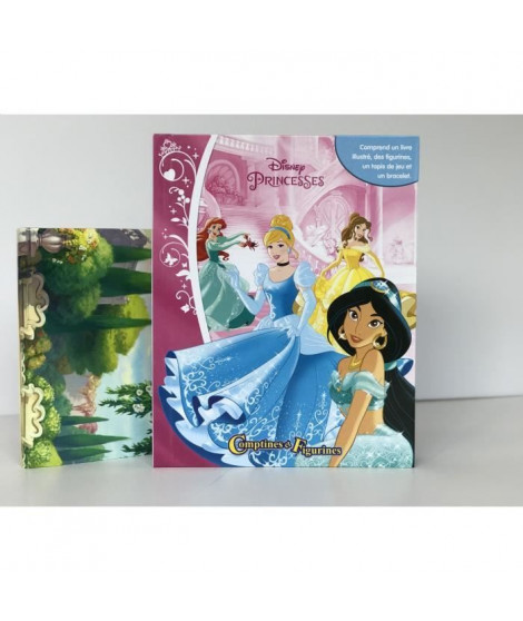 DISNEY PRINCESSES 12 figurines et un tapis de jeu - Livre cartonné de 10 pages - Editions Phidal