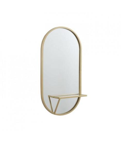 Miroir ovale - 39,75 x 12,75 x 80 cm - Jaune doré