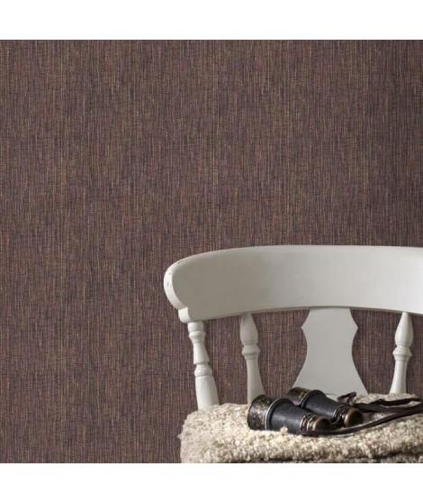 Papier Peint Intissé Textile Bambou Rouge Bordeaux 10 m x 52 cm  Easy