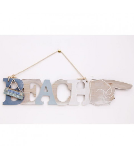Plaque a suspendre 'BEACH' - 47 cm