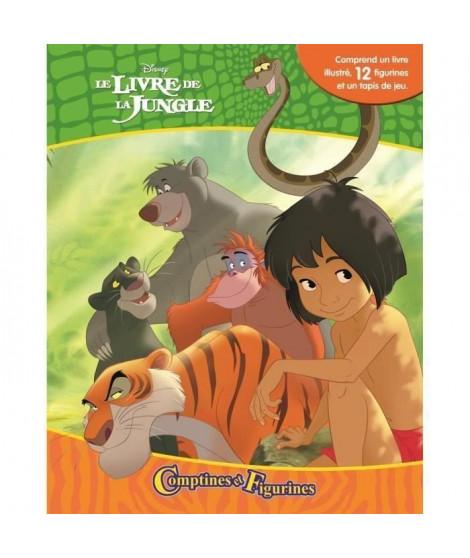DISNEY LE Livre DE LA JUNGLE 12 figurines et un tapis de jeu - Livre cartonné de 10 pages - Editions Phidal