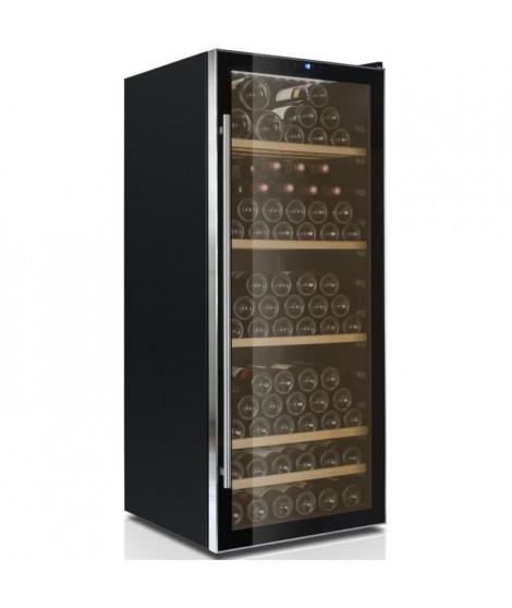 CAVISS- V1131 - Cave de conservation - 131 bouteilles - Porte verre entourage inox - Systeme anti vibration - Eclairage LED