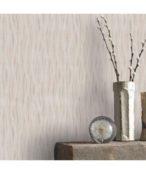 Papier Peint Support Intissé Vagues Taupes 10 m x 52 cm  Easy