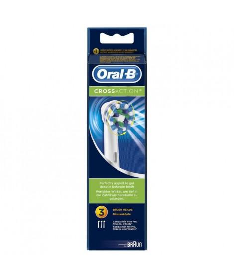 Oral-B Brossettes de rechange x 3 CrossAction