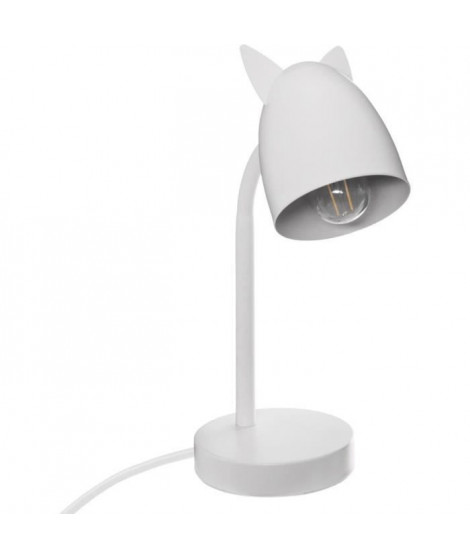 Lampe Oreilles en métal - E14 - 25 W - H. 31 cm - Blanc