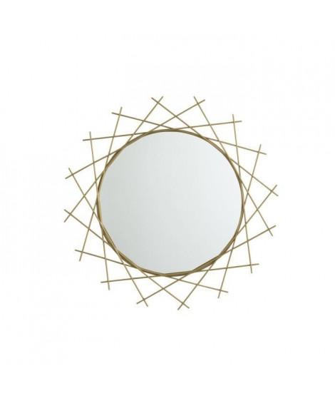 Miroir rond - 71 x 3,2 x 71 cm - Jaune doré
