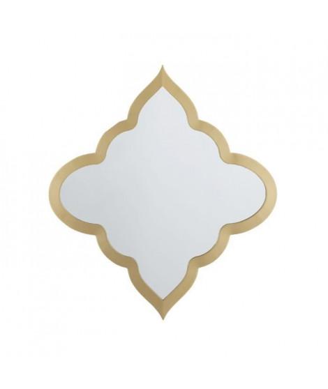 Miroir losange - 61 x 3,2 x 61 cm - Jaune doré