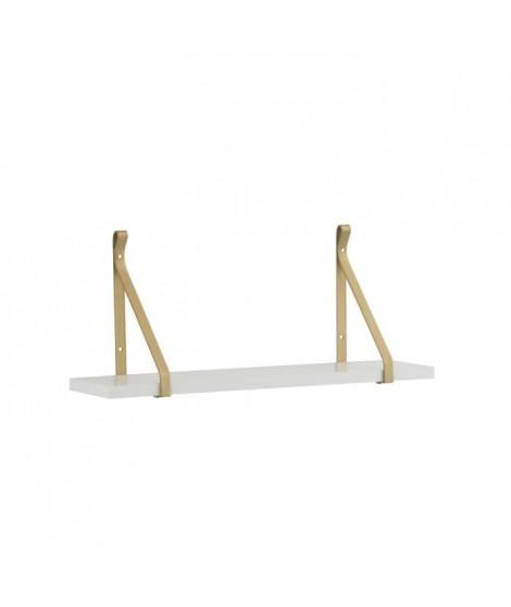 Étagere en bois - 58 x 14 x 25 cm - Blanc