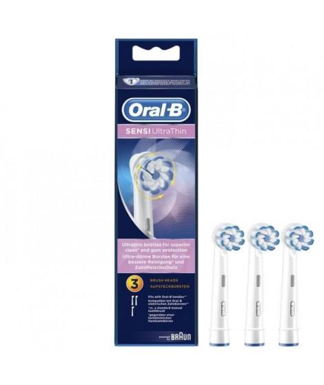 Oral-B Sensi Ultrathin Brossettes De Rechange Pour Brosse a Dents Électrique x3