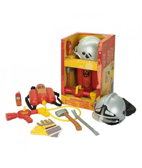 FIRE FIGHTER HENRY - Grand Set de Pompier avec casque et lance - Carnaval