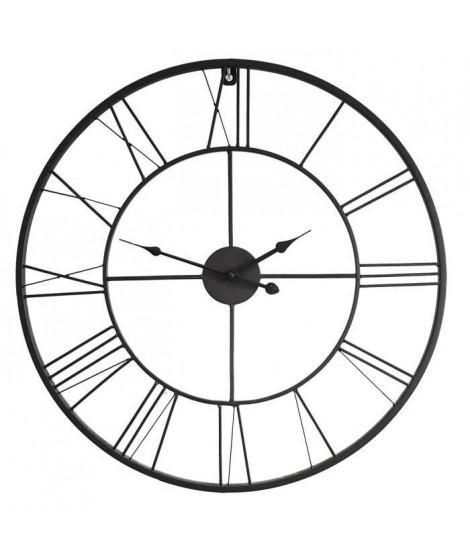 Horloge murale atelier Métal D60 X 3,5cm - Noir