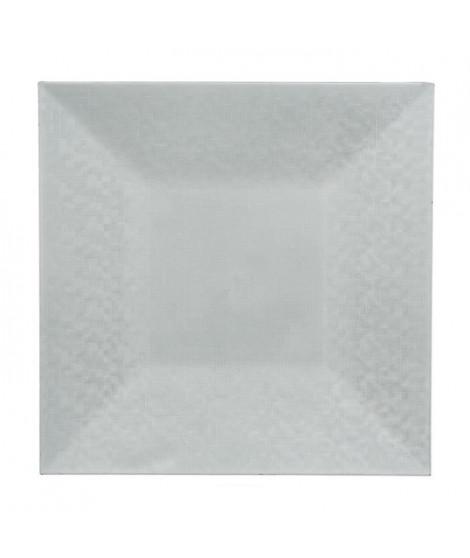 Assiette de présentation carrée pixelisée - Blanc