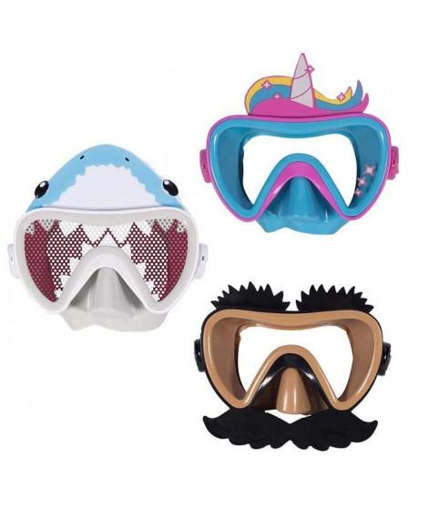 SWIMWAYS Masque de natation Funny Face - Drôle De Tete - Modele aléatoire