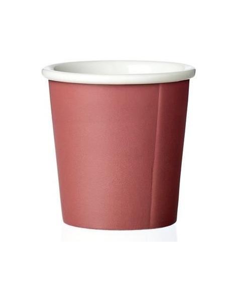 VIVA SCANDINAVIA Tasse a Expresso Anna Nordic - Porcelaine - 8 cl - Rouge