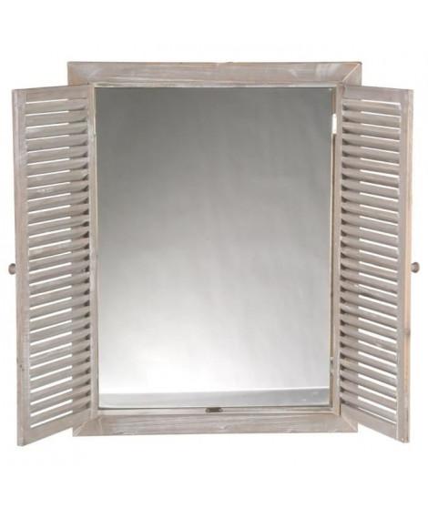 Miroir avec volets rabat - 50 x 65 cm - Beige sable