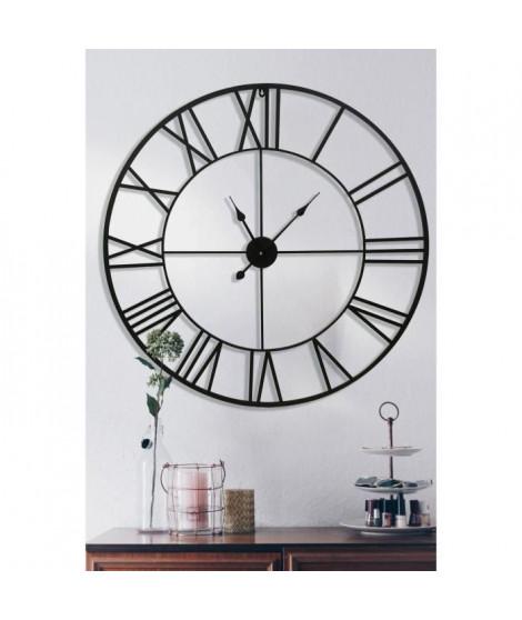 Horloge en métal Gaia Ø 90 cm - Noir