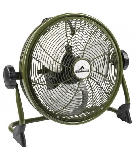 BESTRON Brasseur - Panier 35cm - rechargeable - en couleur ''Outdoor green'' - Débit d'air 38,42m³/min. - Vitesse de l'air 3,…