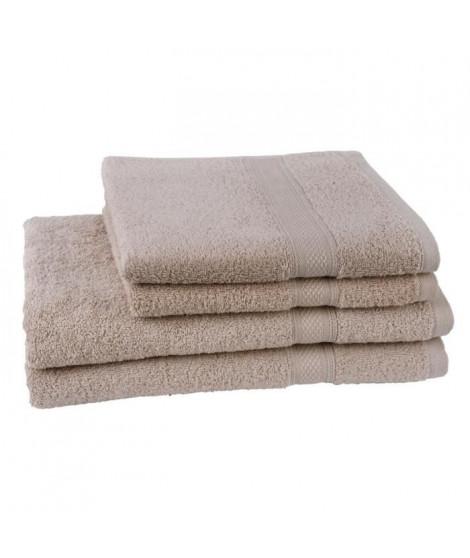 JULES CLARYSSE  Lot de 2 serviettes + 2 draps de bain Élégance - Sable