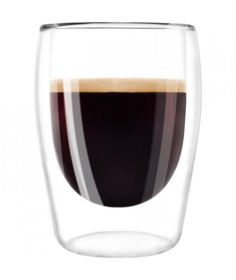 MELITTA Lot de 2 verres pour café Expresso 80 ml transparent