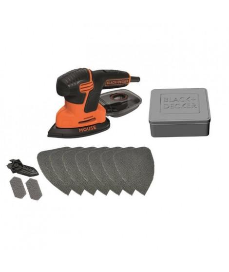 BLACK & DECKER Ponceuse Mouse KA200AT 120 W avec accessoires