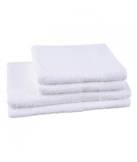 JULES CLARYSSE Lot de 2 serviettes + 2 draps de bain Viva - Blanc