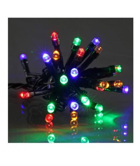 Guirlande de Noël LED extérieure filaire plastique - 5 mm - Multicolore - Electrique