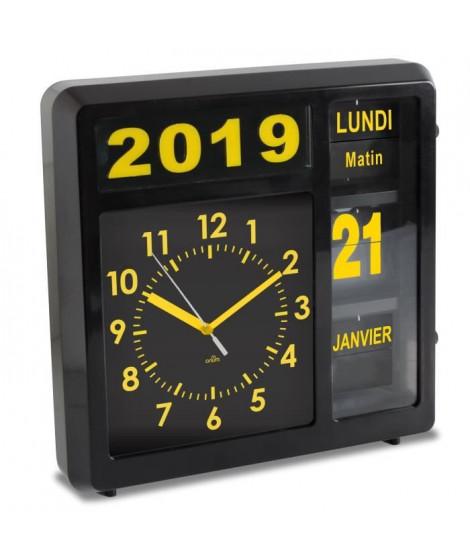 ORIUM Horloge a date a volets Visual - Caracteres grand format - Grande lisibilité