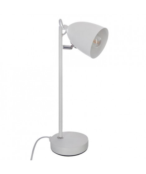 Lampe de bureau en métal - H 36 cm - Blanc