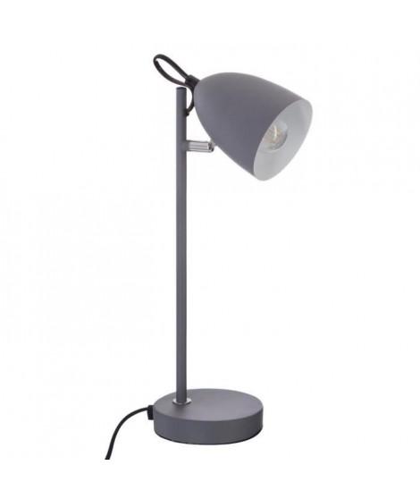 Lampe de bureau en métal - H 36 cm - Gris
