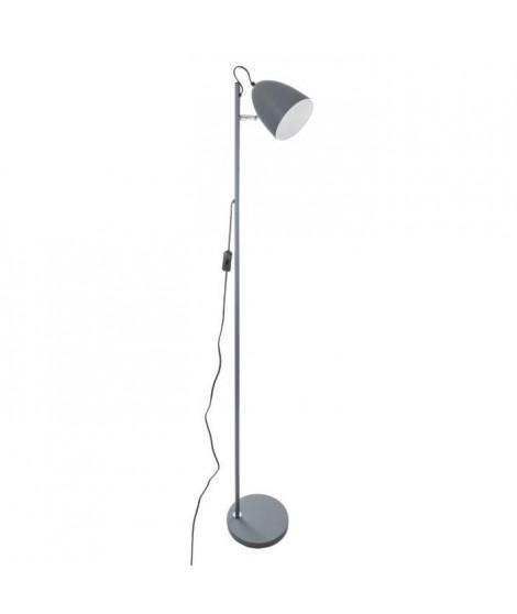 Lampadaire en métal - H 150 cm - Gris