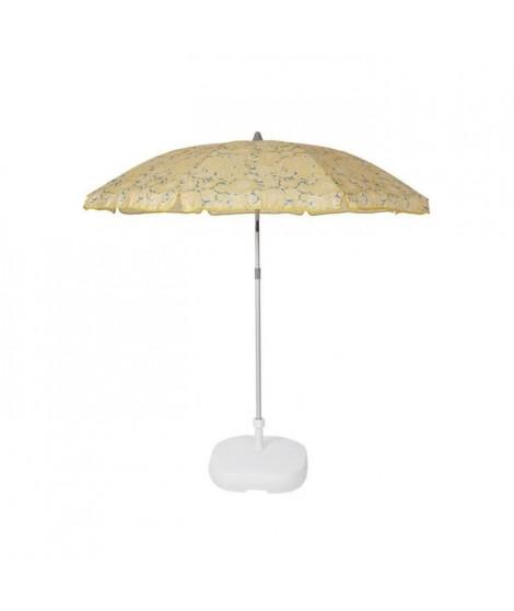EZPELETA Parasol de plage Beach - Ø 180 cm - Cachemire jaune Socle non inclus
