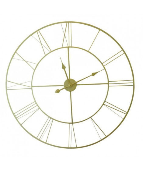 Horloge murale ISADORA  Métal D80 X 4,5cm - Doré