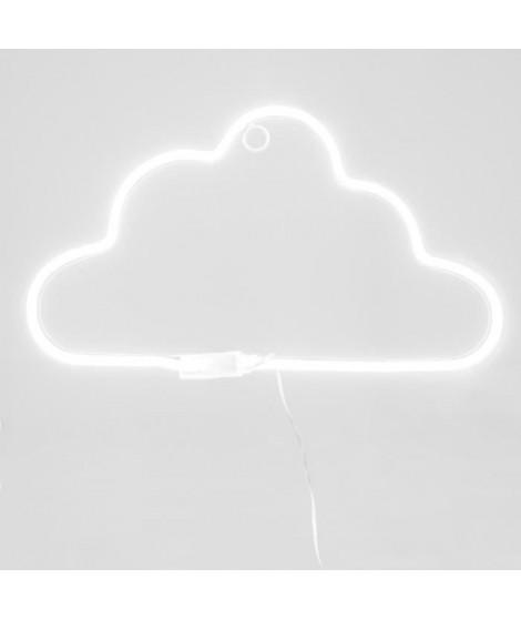 Lampe nuage LED néon - L.39,5 cm - Blanc