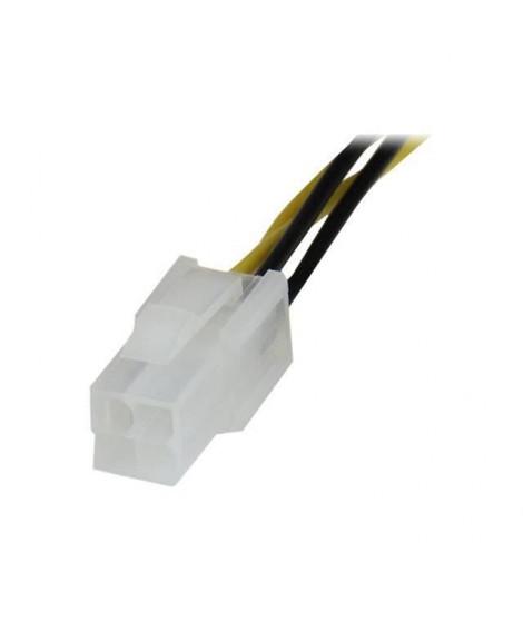 Câble d'extension CPU P4 ATX12V de 20 cm - Câble d'extension d'alimentation processeur P4 4 broches ATX12V 20cm -M/F - ATXP4EXT