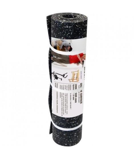 GPI Dalle caoutchouc grand format - 200 x 50 cm - Noir