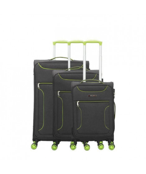 BLUESTAR Set de 3 Valises concorde Vert