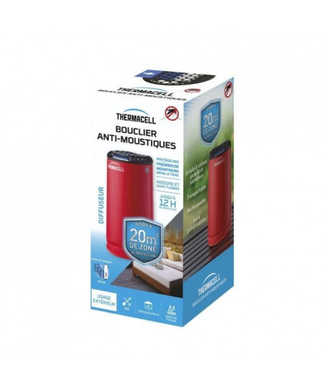 THERMACELL - Bouclier Anti-Moustiques - Diffuseur rouge