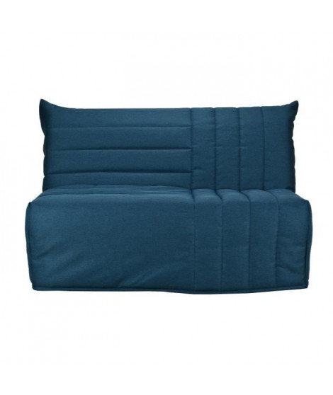 BULTEX Banquette BZ BETH 3 places - Tissu Bleu canard - L 142 x P 101 x H 95