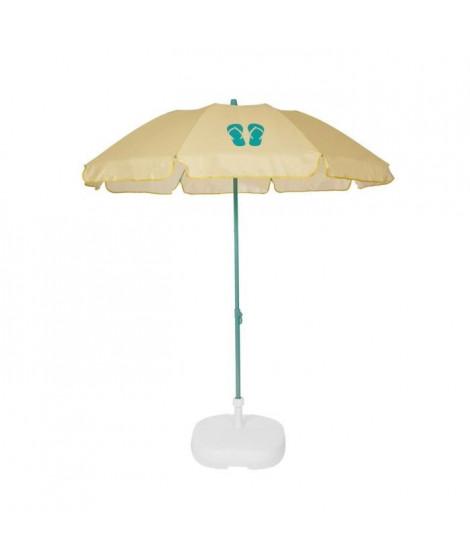 EZPELETA Parasol de plage Fold - Ø 180 cm - Tongs vert Socle non inclus