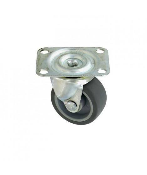 Roulette a platine pivotante - Ø 50 mm - Gris