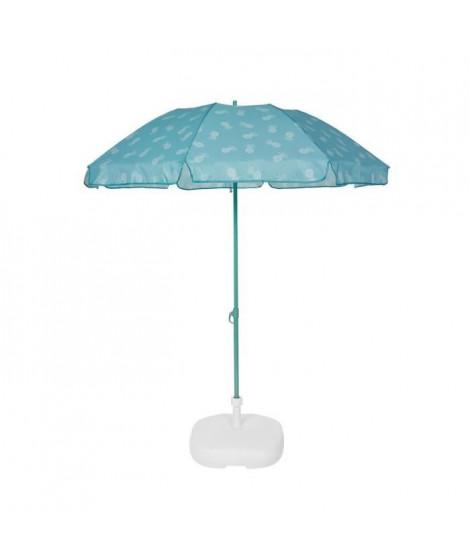EZPELETA Parasol de plage Fold - Ø 180 cm - Ananas vert Socle non inclus