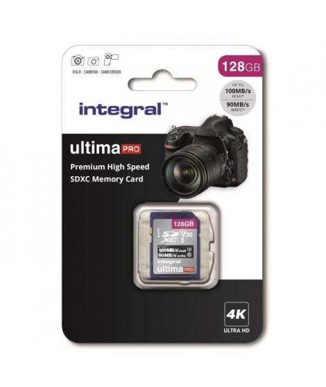 INTEGRAL MEMORY Premium High Speed SDHC/XC V30 UHS-I U3 Carte SDXC 128GB