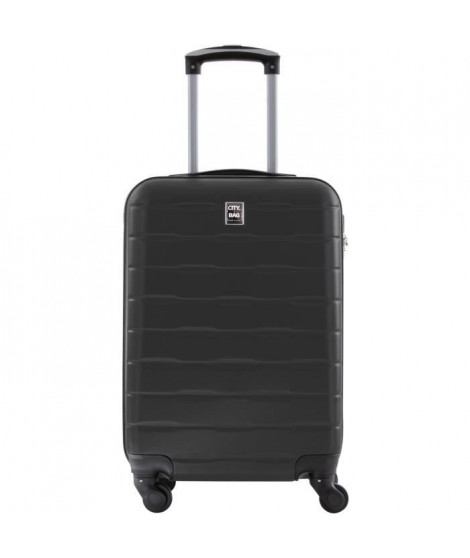 CITY BAG Valise Cabine ABS 4 Roues Gris